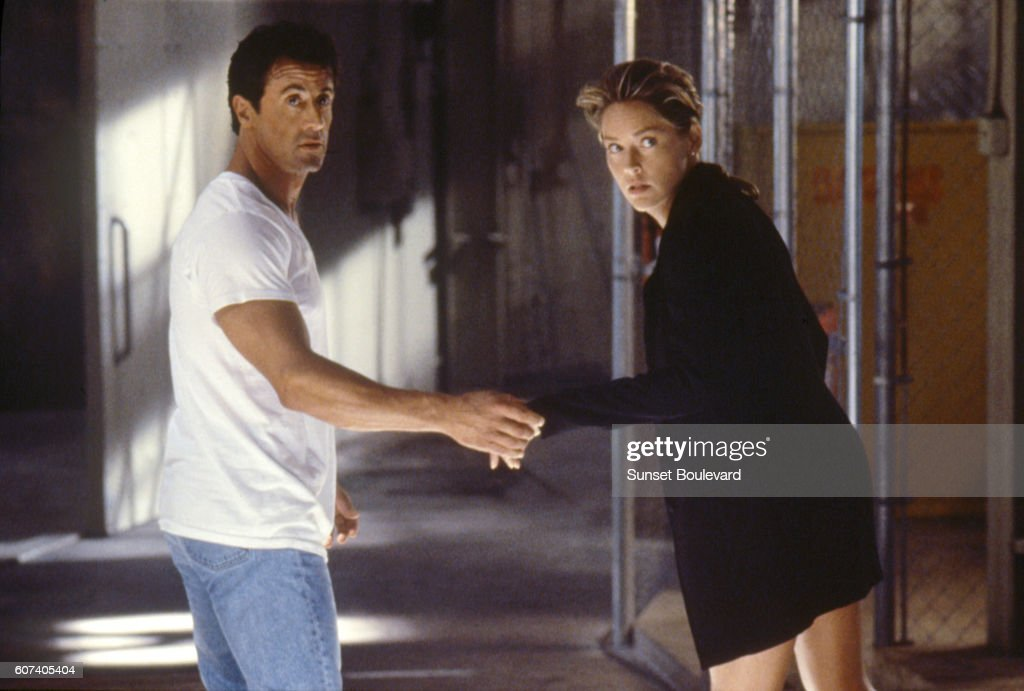 American Actors Sylvester Stallone And Sharon Stone On The Set Of The News Photo Getty Images