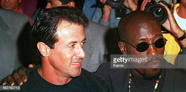 American actors Sylvester Stallone and Wesley Snipes 1993
