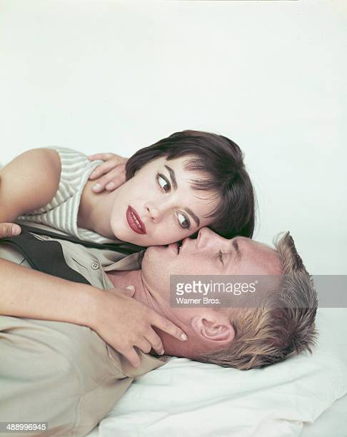 American actors Tab Hunter and Natalie Wood in a publicity still for the Warner Bros film 'The Girl He Left Behind' 1956