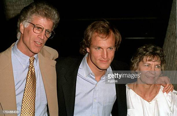 American actors Ted Danson and Woody Harrelson stars of television series 'Cheers' circa 1993
