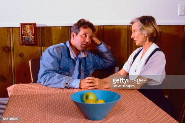 American actors Timothy Bottoms and Cloris Leachman in a scene from the film 'Texasville' Texas 1989