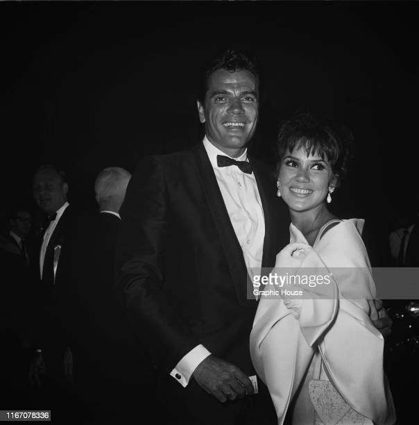 American actors Tom Tryon and Mary Ann Mobley at the premiere of the film 'The Sandpiper' USA 1965
