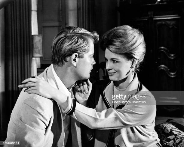 American actors Troy Donahue as Don Porter and Angie Dickinson as Lyda Kent in 'Rome Adventure' directed by Delmer Daves 1962