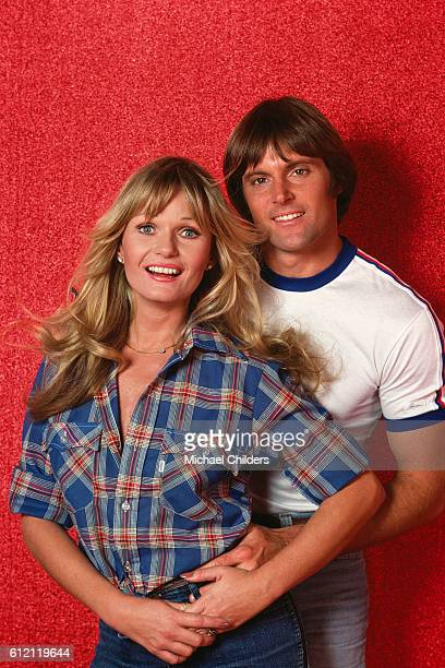 American actors Valerie Perrine and Bruce Jenner on the set of Can't Stop the Music by American actress and director Nancy Walker
