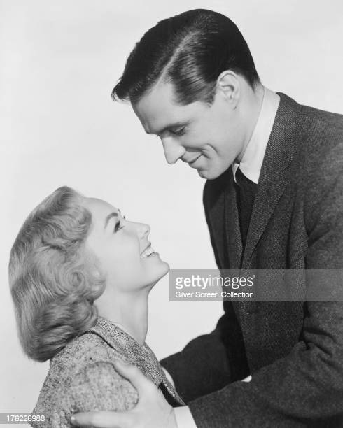 American actors Vera Miles and John Gavin in a promotional portrait for 'Psycho' directed by Alfred Hitchcock 1960