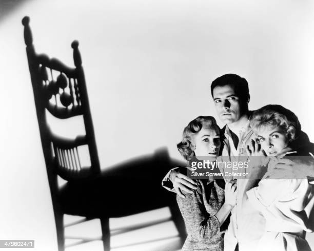 American actors Vera Miles, John Gavin and and Janet Leigh in a promotional portrait for 'Psycho', directed by Alfred Hitchcock, 1960.