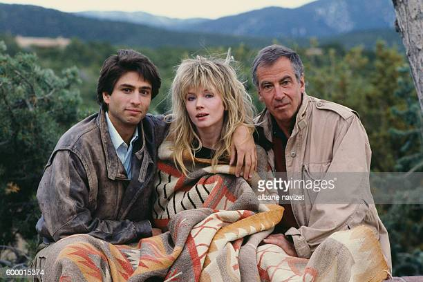 American actors Vincent Spano and Rebecca De Mornay with French director Roger Vadim on the set of his movie And God Created Woman