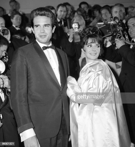 American actors Warren Beatty and Natalie Wood pose for the photographers at the Cannes Festival in May n1962 Actor and filmmaker born in Richmond...