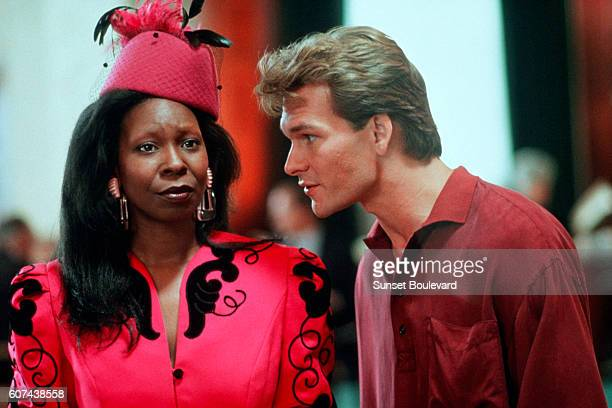 American actors Whoopi Goldberg and Patrick Swayze on the set of Ghost directed by Jerry Zucker
