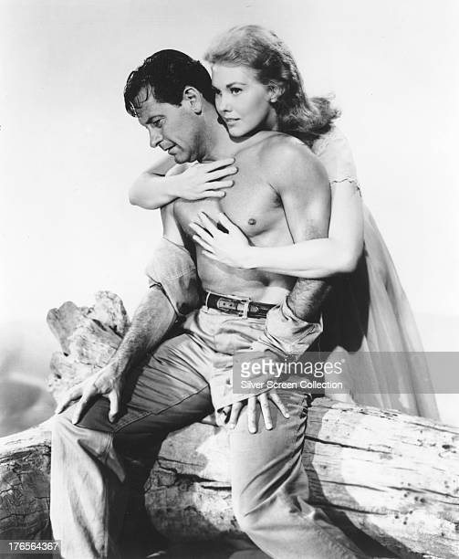 American actors William Holden as Hal Carter and Kim Novak as Madge Owens in a publicity still for 'Picnic' directed by Joshua Logan 1955