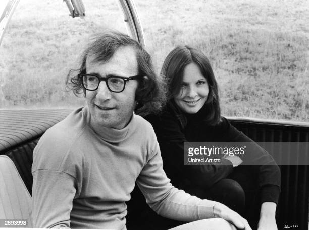 American actors Woody Allen and Diane Keaton in a scene from 'Sleeper' directed by Woody Allen 1973