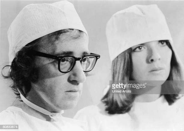 American actors Woody Allen and Diane Keaton in a scene from the film 'Sleepers' directed by Woody Allen 1973