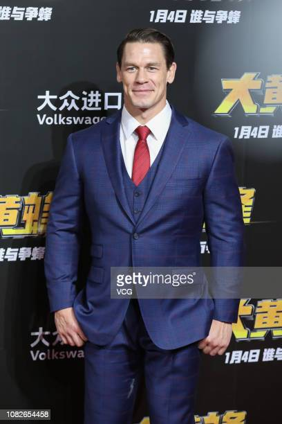 American actor/wrestler John Cena attends the press conference of film 'Bumblebee' on December 14, 2018 in Beijing, China.