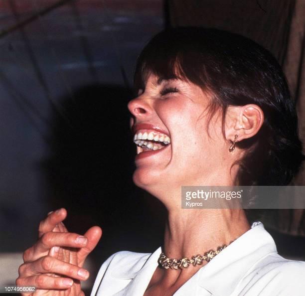 American actress activist health coach and former model Alexandra Elizabeth Paul attends a red carpet event circa 1990