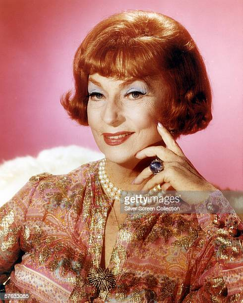 American actress Agnes Moorehead as Endora in TV series 'Bewitched' circa 1965