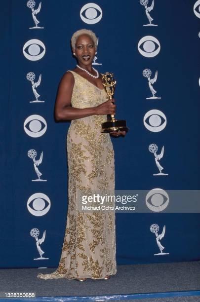 American actress Alfre Woodard backstage at the 49th Primetime Emmy Awards at the Pasadena Civic Auditorium in Pasadena, California, USA, 14th...