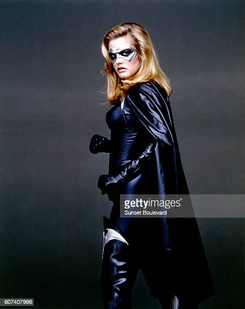 American actress Alicia Silverstone on the set of Batman & Robin, directed by Joel Schumacher.