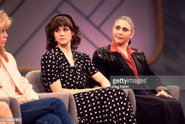 American actress Ally Sheedy and her mother, literary agent Charlotte Sheedy , on the Oprah Winfrey Show, Chicago, Illinois, February 12, 1991.