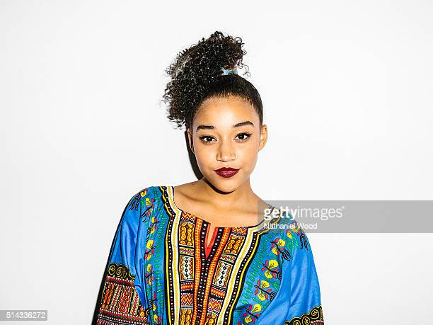 American actress Amandla Stenberg is photographed for Teen Vogue Magazine on August 4 2015 in Los Angeles California