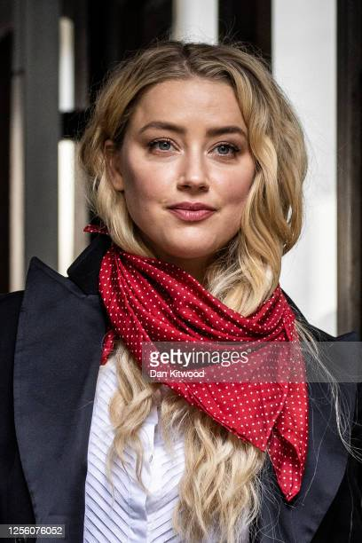American Actress Amber Heard arrives at Royal Courts of Justice, Strand on July 14, 2020 in London, England. American actor Johnny Depp is taking...