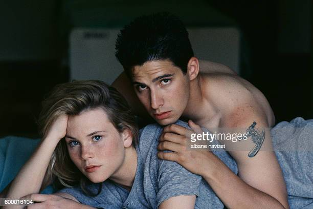 American actress Amy Locane and rapper songwriter producer guitarist and actor Adam Keefe Horovitz aka AdRock member of the hip hop group Beastie...