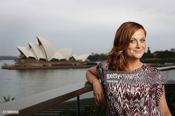 American actress Amy Poehler poses during a photo shoot at the Park Hyatt Hotel in Sydney, New South Wales.
