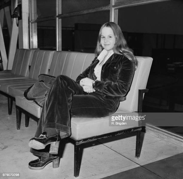 American actress and animal rights activist Linda Blair at Heathrow Airport London UK 25th March 1974