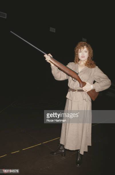 American actress and author Bernadette Peters during an open rehearsal for 'Annie Get Your Gun' at the Westbeth Center for the Arts New York City 1998