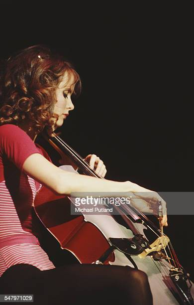 American actress and cellist Lori Singer performing April 1983