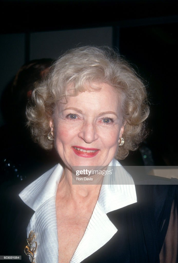 American actress and comedian Betty White attends an event at St. Jude Children's Hospital on July 25, 1992 at the Century Plaza Hotel in Century City, California.