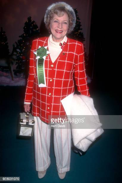 American actress and comedian Betty White attends the 64th Annual Hollywood Christmas Parade on December 3, 1995 at KTLA Studios in Hollywood,...