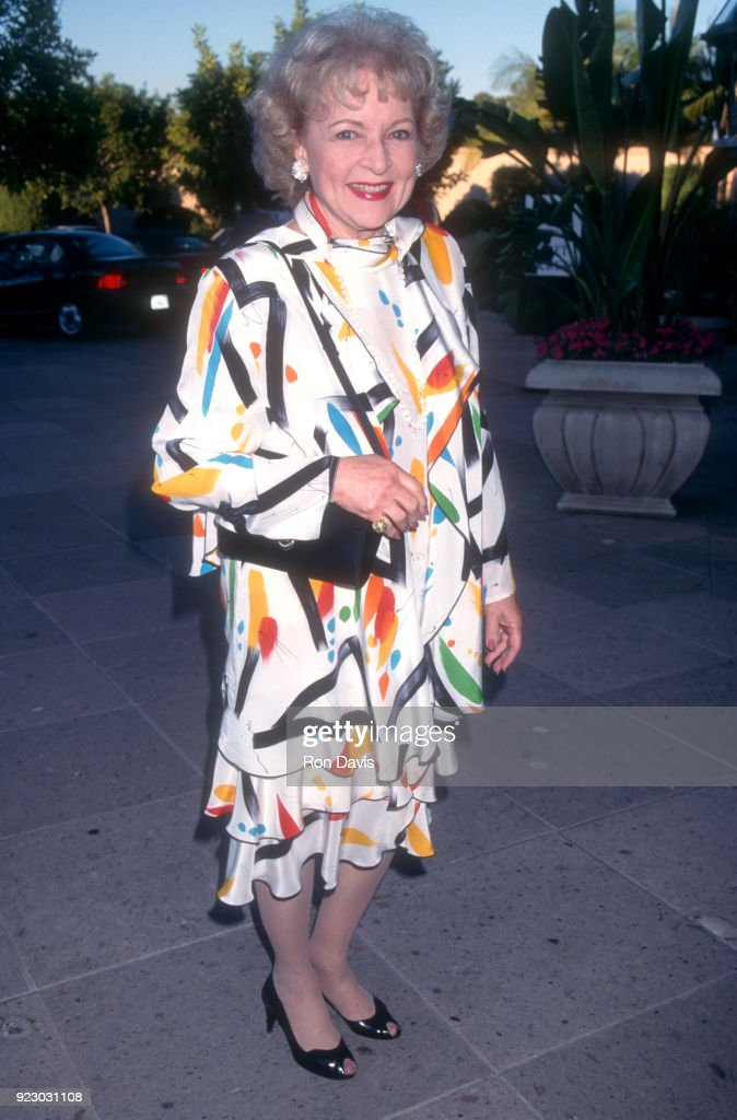 American actress and comedian Betty White attends the ABC TV Summer Press Tour on July 20, 1995 at the Ritz Carlton Hotel in Pasadena, California.