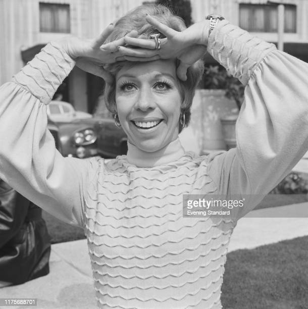 American actress and comedian Carol Burnett stands outside the Dorchester Hotel in London on 14th May 1970