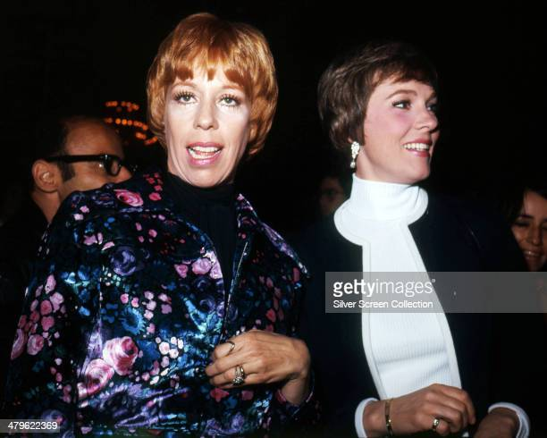 American actress and comedian Carol Burnett with English actress Julie Andrews at the Director's Guild of America Awards, 1972.
