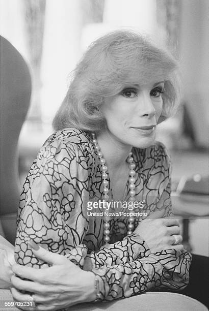American actress and comedian Joan Rivers posed in London on 17th November 1983