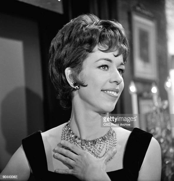American actress and commedienne Carol Burnett in a scene from an episode of the television show 'The Twilight Zone' entitled 'Cavender is Coming' ,...