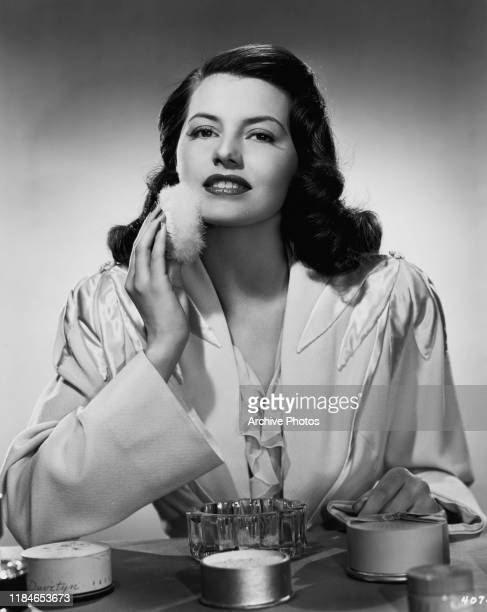 American actress and dancer Cyd Charisse applying her makeup circa 1947 She is starring in the MGM musical film 'Fiesta'