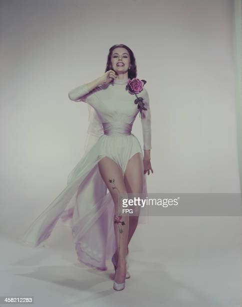 American actress and dancer Cyd Charisse circa 1950