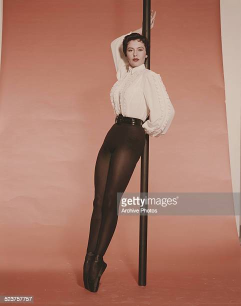 American actress and dancer Cyd Charisse circa 1955