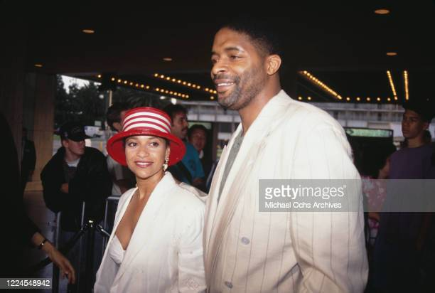 American actress and dancer Debbie Allen and her husband American basketball player Norm Nixon attend the premiere of 'Alien 3' held at the Cineplex...