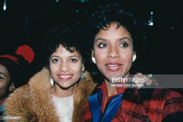 American actress and dancer Debbie Allen and her sister Phylicia Ayers-Allen attend the Night of 100 Stars II gala to benefit the Actors Fund, held...