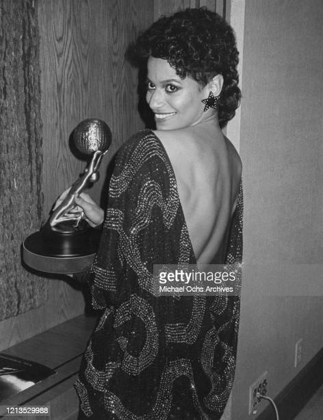 American actress and dancer Debbie Allen with her NAACP Image Award in Los Angeles, USA, 4th December 1984.