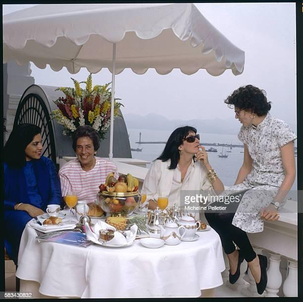 American actress and director Anjelica Huston Swiss screenplay writer Francoise Giroud French actress Fanny Ardant and Indian director Mira Nair...