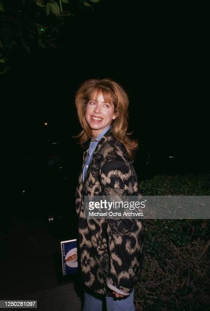 American actress and fashion model Julianne Phillips attends an event in Los Angeles, US, 1990.