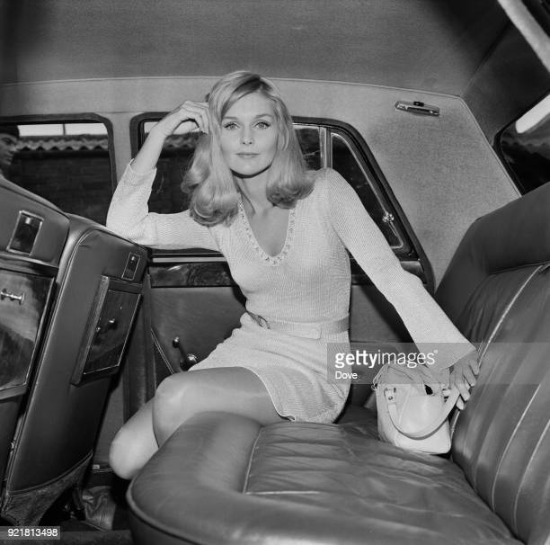 American actress and former child model Carol Lynley sitting in the back of a car London UK 5th July 1968