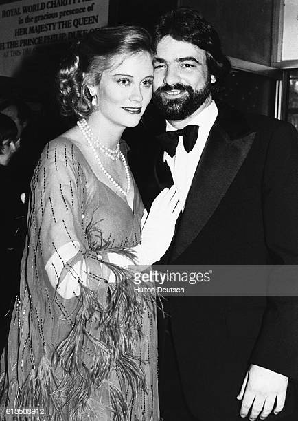 American actress and former model Cybill Shepherd with her husband David Ford at the premiere of the film The Lady Vanishes held at the Odeon...