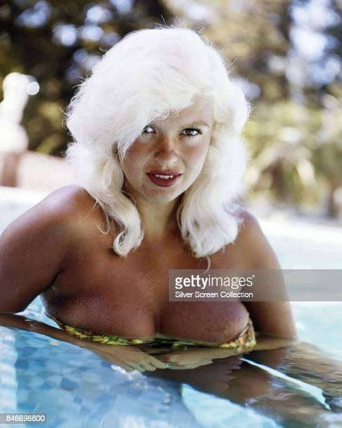 American actress and former Playboy playmate Jayne Mansfield in a swimming pool circa 1960