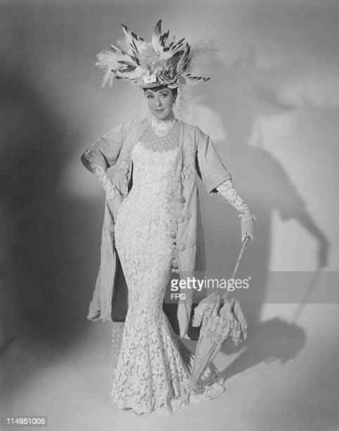 American actress and former stripper Gypsy Rose Lee in period costume as she appears in the role of Mrs Bradford in 'Wind Across the Everglades'...