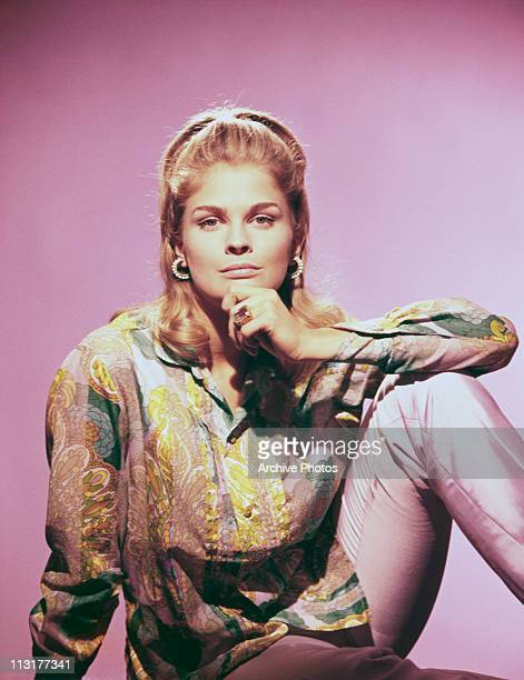 American actress and model Candice Bergen poses with her hand on her chin circa 1967