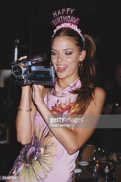 American actress and model Jaime King celebrates her twenty first birthday at the Mercer Kitchen restaurant New York City USA 2000